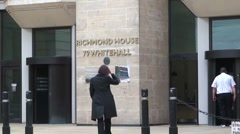 Department of Health at Richmond House in London Stock Footage