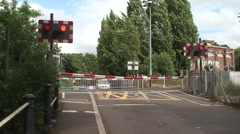 Railway Train Passing Level Crossing Stock Footage