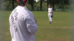 Amateur Baseball Pop Up Stock Footage