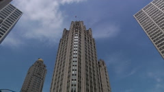Chicago Tribune Tower time lapse Stock Footage