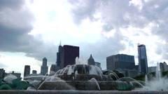 Chicago Buckingham Fountain Time Lapse Stock Footage
