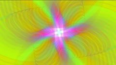 Flower fancy pattern psychedelic wedding tech particle background. Stock Footage
