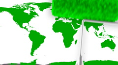 World Map Painting Turning To Globe (Loop) Stock Footage