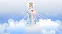Mother Mary at the sky Stock Footage