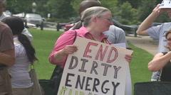 Environmental Activists At Congress Stock Footage