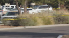 Congresswoman Gabrielle Giffords tragedy crime scene day 2 - pick up shots - 26 Stock Footage