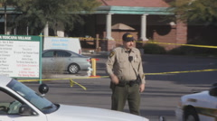 Congresswoman Gabrielle Giffords tragedy crime scene day 2 - pick up shots - 22 Stock Footage