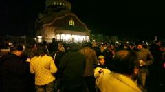 Orthodox Easter Light Stock Footage