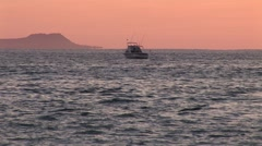 Sunrise Panga On Way To Sport Fishing Boats Stock Footage