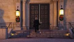 Old Church Doors 0577 Stock Footage