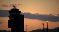 Air Traffic Control Tower Stock Footage