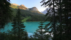 Emerald Lake in Yoho National Park in British Columbia, Canada Stock Footage