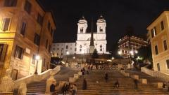 Spanish Steps, Rome Stock Footage