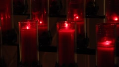 Chapel Candles 0587 Stock Footage