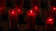 Stock Video Footage of Chapel Candles 0587