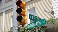 Traffic Signal Light Stock Footage
