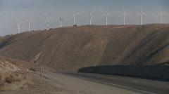 Tehachapi Pass Wind Farm MS Stock Footage