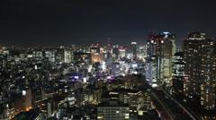 Tokyo at night - stock footage