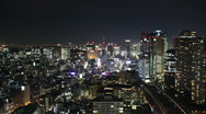 Stock Video Footage of Tokyo at night