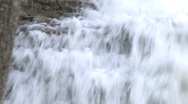 Stock Video Footage of Waterfall on eroded limestone rock
