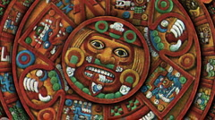 Mayan Doomsday 2012 Calendar (Armageddon/End of the World(technically Aztec) Stock Footage