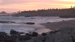Beautiful Beach At Dusk Stock Footage
