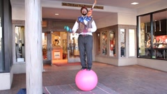 Juggler 0468 Stock Footage