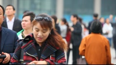 People in Shanghai, China - stock footage