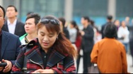People in Shanghai, China Stock Footage