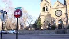 Santa Fe Loretto Chapel 0457 Stock Footage