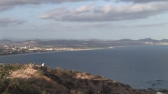View of San Jose From Mountaintop Stock Footage
