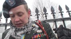 Anti-War Iraq Veteran Speaks Out 2 Stock Footage