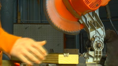 Power tool miter saw Stock Footage