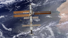 International Space Station above the Earth - stock footage