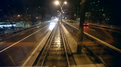 Tram Rear Window Stock Footage