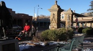 Stock Video Footage of Santa Fe Statue 0444