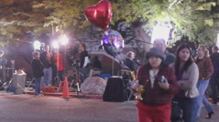 Congresswoman Giffords' Vigil at UMC and the media - 19 Stock Footage