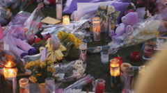 Congresswoman Giffords' Vigil at UMC and the media - 17 Stock Footage
