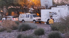Congresswoman Giffords' Vigil at UMC and the media - 15 Stock Footage