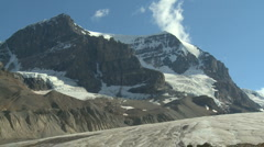 Mount Andromeda Athabasca Glacier td03 Stock Footage
