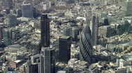 Stock Video Footage of London City Skyline