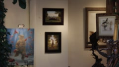 Art Gallery 0416 Stock Footage