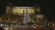 Stock Video Footage of Christmas Timelapse at Victoria Emmanuelle in Rome