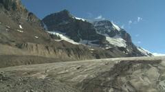 Athabasca glacier td 01  - stock footage