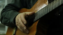 Keeping time on a guitar Stock Footage