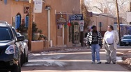 Stock Video Footage of Santa Fe Street 0389