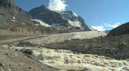 Mount Andromeda Athabasca Glacier h 04 Stock Footage
