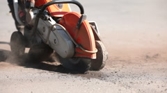 Repair of a road covering Stock Footage