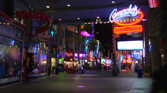 Universal City Walk - Time lapse Stock Footage
