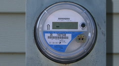 Energy efficient digital electric meter  - stock footage
